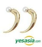 B.A.P & EXO Style - Stronghold Earrings (Faux Pearl / Gold)
