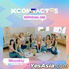 Weeekly - KCON:TACT HI 5 Official MD (Behind Photo Card Garland)