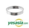 Jang Keun Suk Style - Simple Step Ring (Silver) (US Size: 8 1/2 - 9)