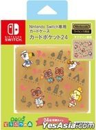Nintendo Switch Card Case Card Pocket 24 Animal Crossing: New Horizons Line Art (Japan Version)