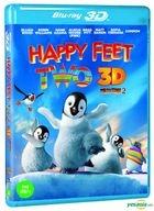Happy Feet 2 (Blu-ray) (2-Disc) (2D + 3D Combo) (Korea Version)