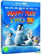 Happy Feet 2 (Blu-ray) (2-Disc) (2D + 3D) (Lenticular) (Korea Version)