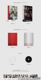 2PM Vol. 7 - MUST (DARK Version) + Random First Press Gift + Poster in Tube (DARK Version)