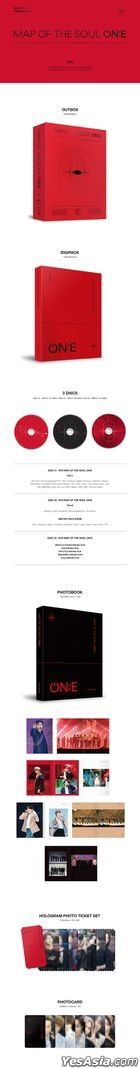 BTS - MAP OF THE SOUL ON:E (3DVD + Photobook + Hologram Photo Ticket Set + Random Photo Card) (Korea Version)