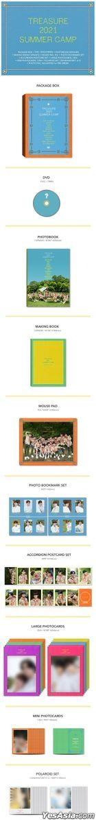 TREASURE 2021 Summer Camp (DVD + Photobook + Making Book + Mouse Pad + Photo Bookmark Set + Postcard Set + Large Photo Card + Polaroid Set) (Korea Version)