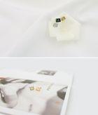 Big Bang Style - Initial Earrings (Silver)
