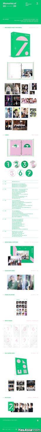 BTS Memories of 2020 (Blu-ray) (7-Disc + Out Box + 4X6 Photo Set + Paper Photo Card Frame + Photo Card) (Korea Version)