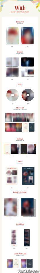 Infinite: Nam Woo Hyun Mini Album Vol. 4 - With (A Version) + Special Photo Card Set + 4-Cut Photo (A Version)