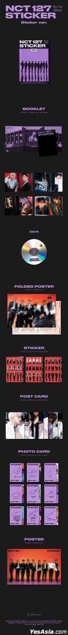 NCT 127 Vol. 3 - STICKER (Sticker Version) + Poster in Tube (Sticker Version)