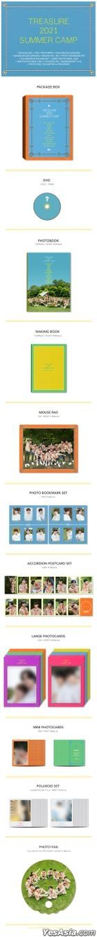 TREASURE 2021 Summer Camp (DVD + Photobook + Making Book + Mouse Pad + Photo Bookmark + Photo Card + Polaroid Set) (Korea Version) + First Press Limited Photocards