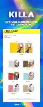 MIRAE 'KILLA' Official Goods - L-holder & A4 Poster (Jang Yu Bin)