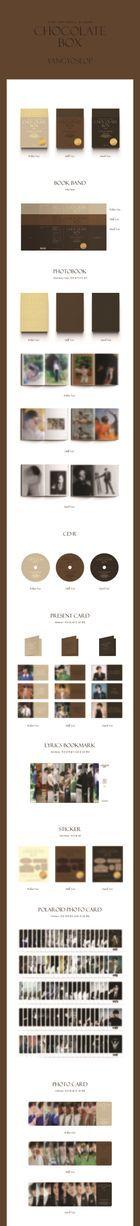 Highlight: Yang Yo Seop Vol. 1 - Chocolate Box (White + Dark + Milk Version) + 3 Posters in Tube (White + Dark + Milk Version)